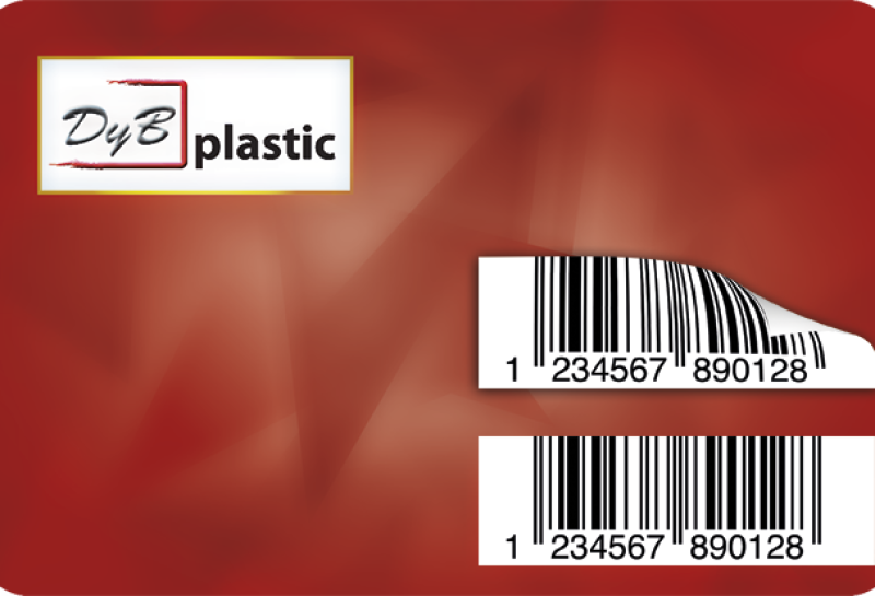 tarjetas con etiqueta removible