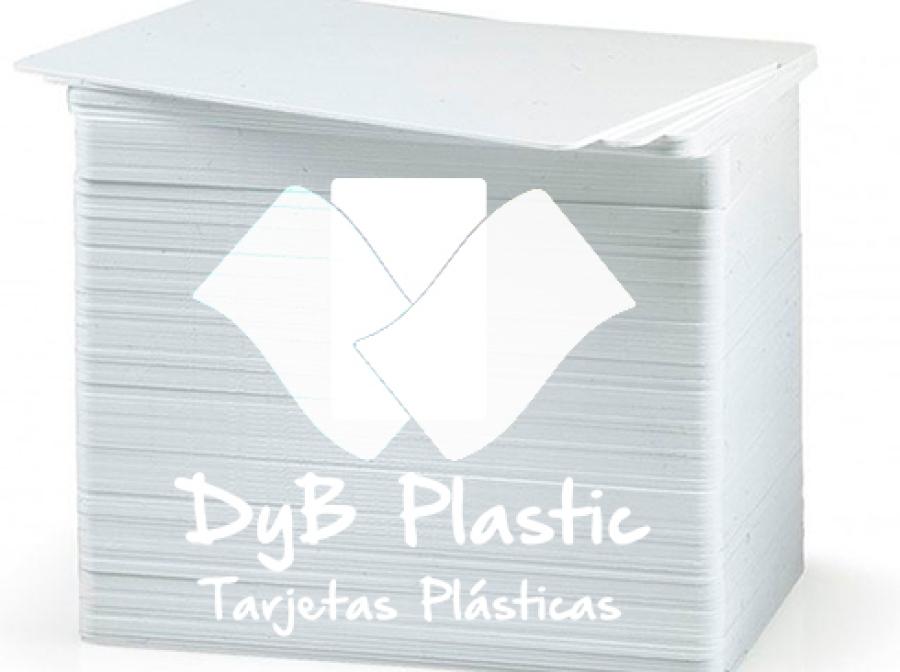 Tarjetas de plastico blancas 300