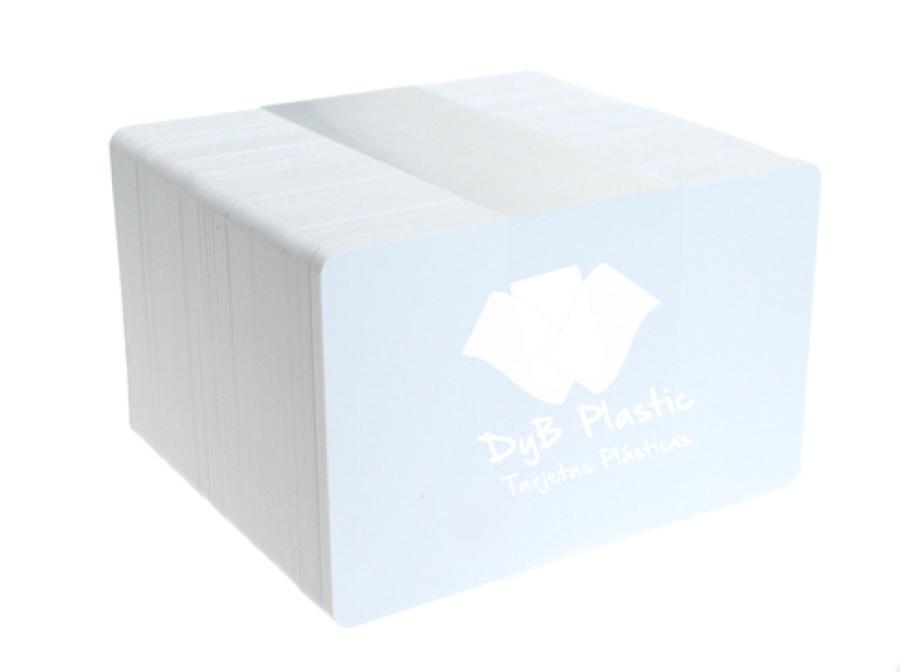 Tarjetas blancas de plastico 250 micras