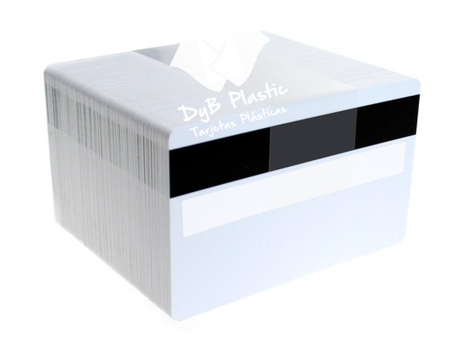 Tarjetas de plastico con banda y panel