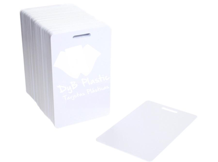Tarjetas blancas perforado ovalo